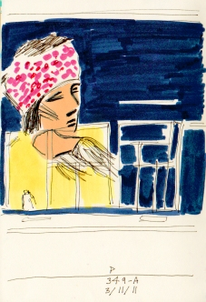 autoportrait in window